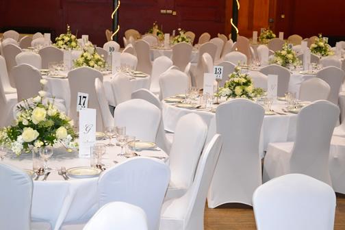 White Table Decs