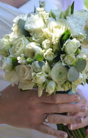 White Rose Handtie