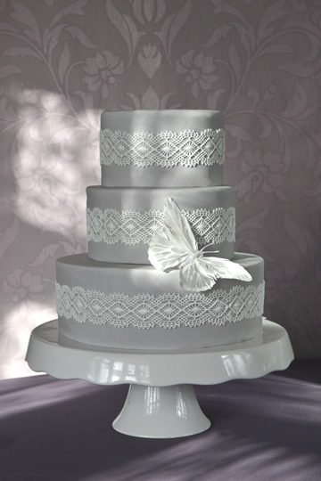 Grey And White Lace