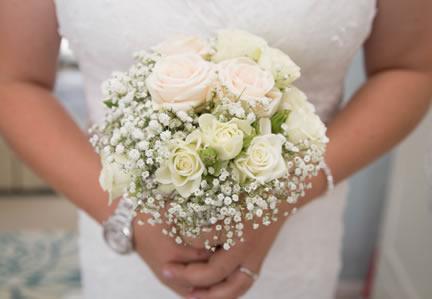 White Rose & Gypsophila