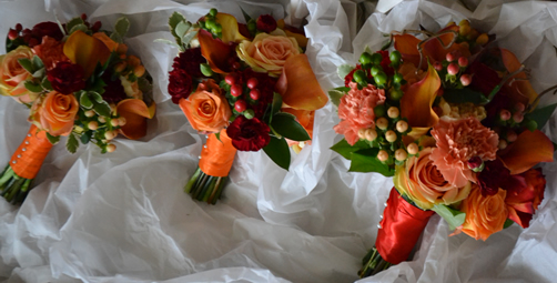 Orange & Red Bouquets