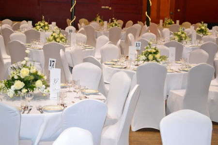White Table Decs